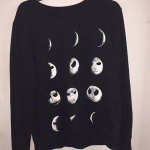 TNBC Jack Skellington moon phases sweater